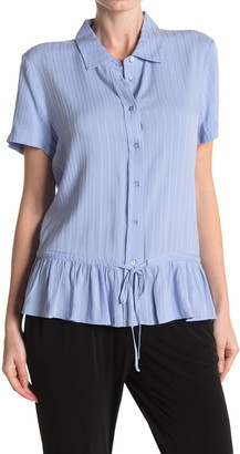 Laundry by Shelli Segal Short Sleeve Peplum Hem Shirt