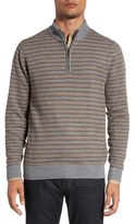 Cutter & Buck 'Douglas Range' Quarter Zip Stripe Wool Blend Sweater