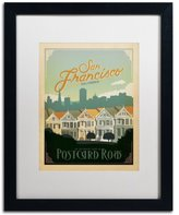 Trademark Fine Art San Francisco II Canvas Artwork by Anderson Design Group, 16 by 20-Inch, White Matte with Black Frame