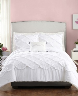 Jessica Simpson 4 Piece Ruffled Scallop King Comforter Set