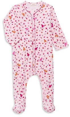 Catimini Baby Girl's Cat Floral-Print Footed One-Piece Pajama