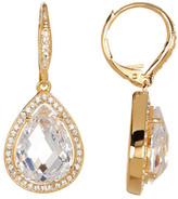 Nadri Crystal & CZ Halo Teardrop Earrings