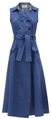 Evi Grintela Sahara Cotton-chambray Maxi-length Shirtdress - Blue