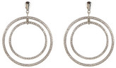 Jessica Simpson Embellished Double Circle Drop Stud Earrings