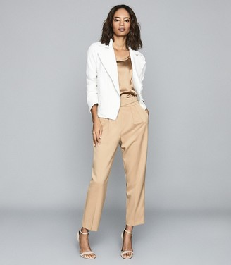Reiss SABINE CASUAL JACKET WITH ZIP DETAILING White
