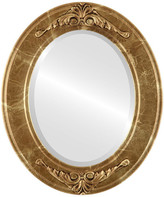 """The Oval And Round Mirror Store Ramino Framed Oval Mirror in Champagne Gold, 25""""x35"""""""