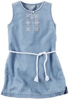 Carter's Toddler Girl Embroidered Chambray Dress
