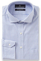 Hart Schaffner Marx Non-Iron Fitted Classic-Fit Cutaway Collar Checked Dress Shirt