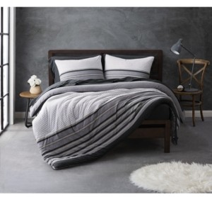 Sean John Knit Stripe Jersey King Duvet Set Bedding