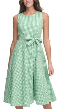 Tommy Hilfiger Damen Fit/&Flare Punto Dress Ss Kleid