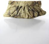 Pietro Alessandro Beige Taupe Tan Textured Leather Snake Print Clutch Handbag