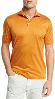 Ermenegildo Zegna Mercerized Cotton Polo Shirt, Bright Orange