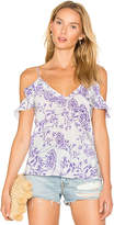 Amanda Uprichard Aliyah Top in Purple. - size L (also in M,S,XS)