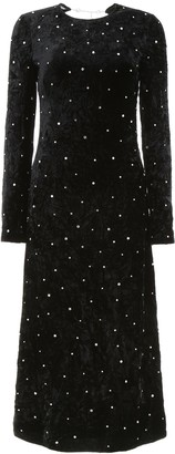 Miu Miu Embellished Long-Sleeve Dress