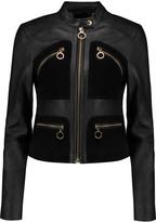 MICHAEL Michael Kors Suede-paneled leather jacket