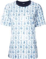 Jil Sander Navy floral print T-shirt - women - Cotton - 36