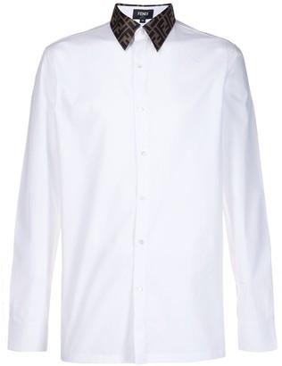 Fendi Logo Collar Tailored Shirt