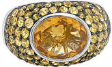 LeVian Corp Le Vian Grand Sample Sale Ring featuring Cinnamon Citrine Yellow Sapphire set in 18K Vanilla Gold Family
