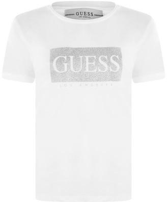 GUESS Glitter Box T Shirt