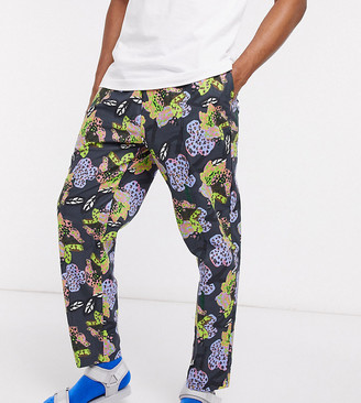 ASOS MADE IN KENYA tapered floral print trouser co-ord