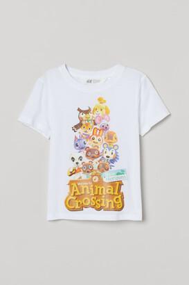 H&M Printed T-shirt - White