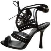 Oscar de la Renta Leather-Trimmed PVC Ankle Boots