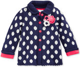 First Impressions Baby Girls' Dot-Pattern Collared Intarsia Cardigan, Only at Macy's