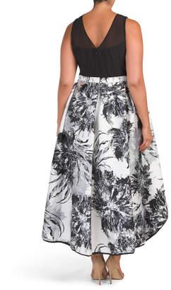 Mesh Top Hi-lo Party Dress