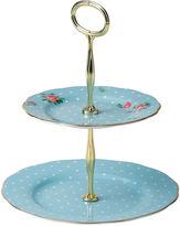 Royal Albert Polka Blue Vintage 2-Tier Cake Stand