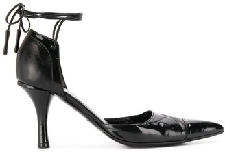 Chanel Pre Owned 2000's Tie-Fastening Pumps