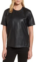 Kenneth Cole New York Women's Faux Leather Tee