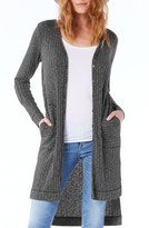 Michael Stars Elbow Patch Long High/Low Cardigan