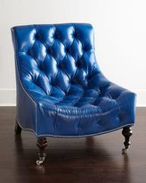 Barclay Butera Paulina Tufted-Leather Chair