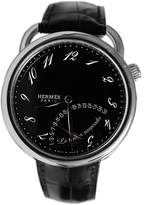 Hermes Time Pause Men's 43mm Black Leather Date Watch AR8.910.330/MNO