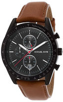 Michael Kors MK8385 Men's Accelerator Chronograph Brown Genuine Leather Black
