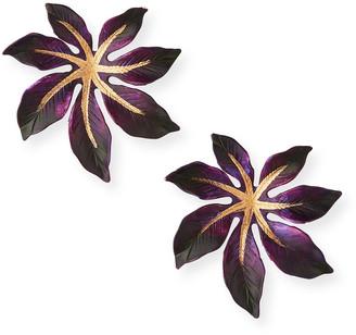 We Dream In Colour Laila Earrings, Purple