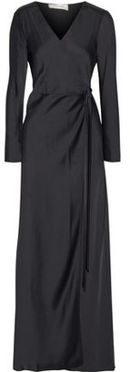 Diane von Furstenberg Satin-crepe Maxi Wrap Dress