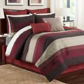 Hudson California King Comforter Set in Red