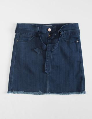 RSQ Collective Self Belt Girls Denim Skirt