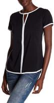 Spense Short Sleeve Keyhole Shirt