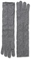 Sofia Cashmere Women's Cable Long Gloves, Heather Charcoal