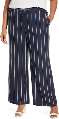 Estelle Seeing Stripe Wide Leg Pants