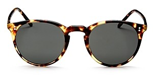 Oliver Peoples Women's O'Malley Mirrored Round Sunglasses, 45mm