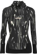 adidas by Stella McCartney Run Climalite® Printed Stretch Hooded Top