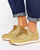 New Balance 574 Sneakers In Sand Suede