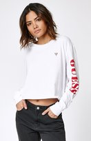 GUESS Long Sleeve Cropped T-Shirt