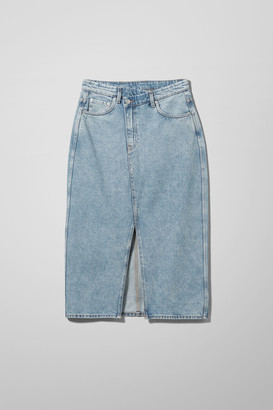 Weekday Jodi Denim Skirt - Blue