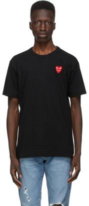 Comme des Garcons Black Layered Double Heart T-Shirt