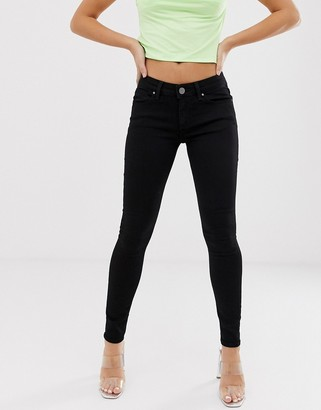 Asos Design DESIGN Whitby low rise skinny jeans in clean black