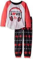 AME Sleepwear Big Girls' Musical.Ly 2-Piece Pajama Set